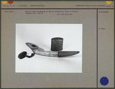 Pipe en ivoire de mammouth et bois