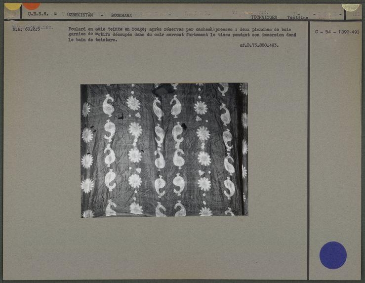 Tissu batiké rouge des Tatars de Boukhara