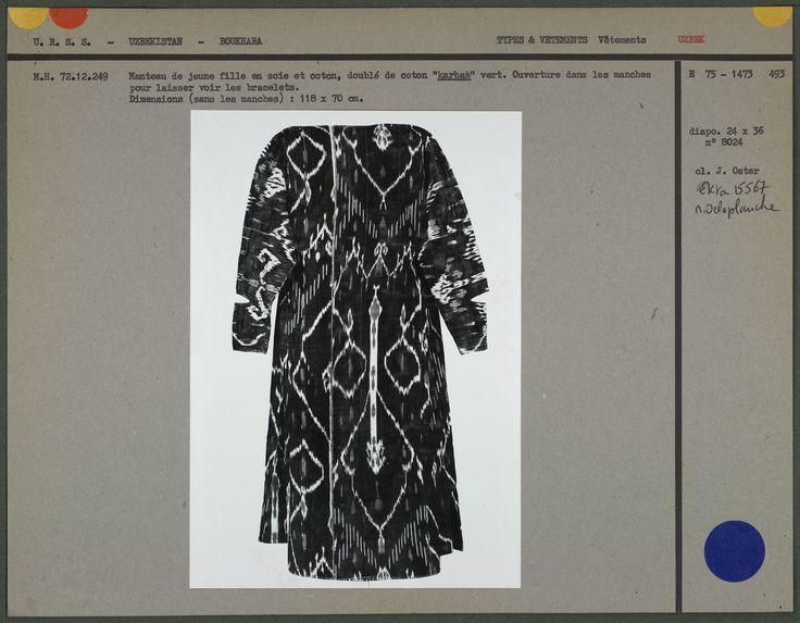 Manteau de jeune fille en soie et coton