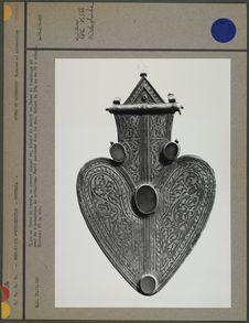 Bijou en forme de coeur, en argent plaqué or