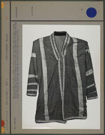 """Manteau d'homme """"capan"""" à chaîne de soie"""