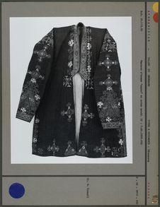Manteau d'homme en coton brodé (devant)