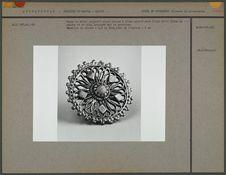Bague en métal argenté : grand disque