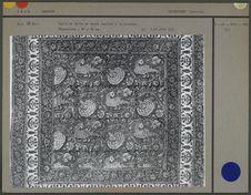 Détail d'un carré de toile de coton imprimé