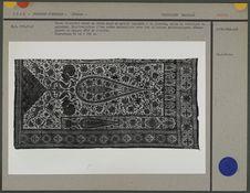Tissu décoratif mural en coton orné de motifs