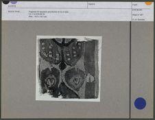 Fragment de tapisserie polychrome en lin et laine