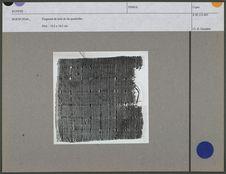 Fragment de toile de lin quadrillée