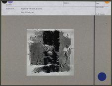 Fragment de toile barrée, lin et laine
