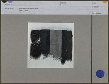 Fragment de toile de laine barrée