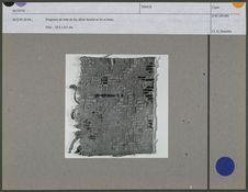 Fragment de toile de lin, décor broché en lin et laine