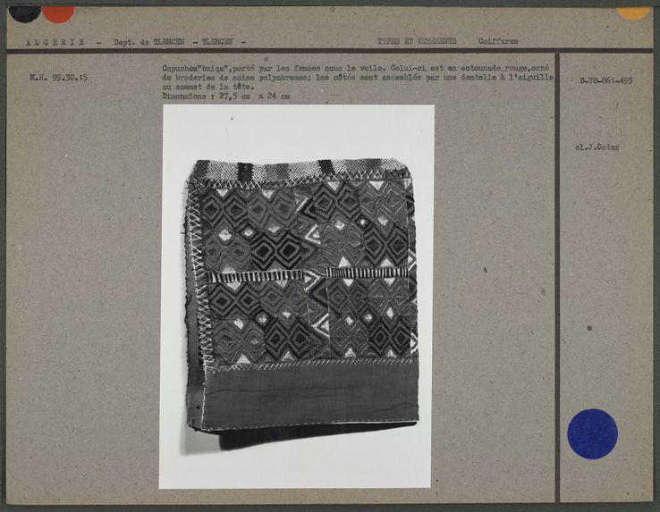 """Capuchon """"bniqa"""", porté par les femmes sous le voile"""