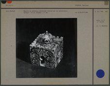Encrier en céramique polychrome