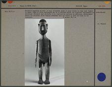 Statuette masculine en bois, bras articulés