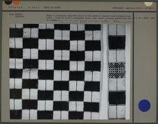 Pagne à rectangles blanc et bleu foncé