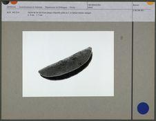 Grelot de fer fait d'une plaque ellipsoïde