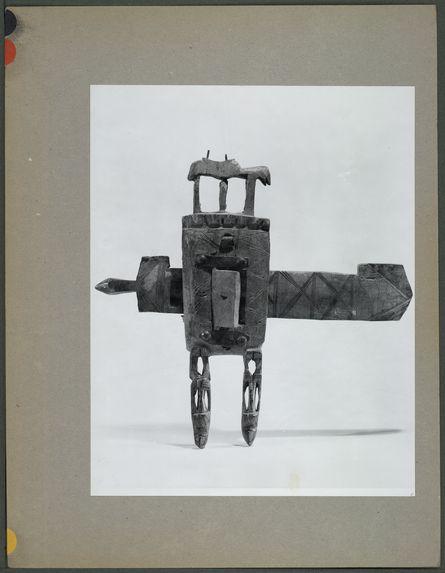 Double serrure dogon en bois sculpté