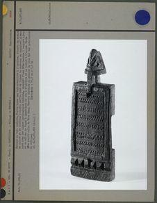 Serrure dogon en bois sculpté