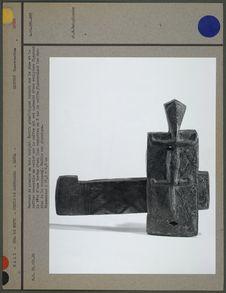 Serrure de grenier en bois sculpté dogon