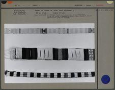 Bandes de tissus en coton teint polychrome
