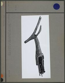Cimier de coiffure de danse : antilope