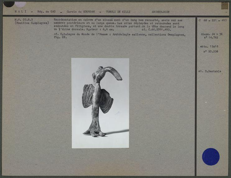 Toucan ou ibis en cuivre