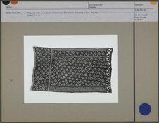 Pagne en coton, avec dessins géométriques à la réserve