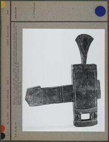 """Serrure en bois sculpté """"Dogon&quot"""