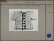 Tunique en coton blanc à motifs découpés