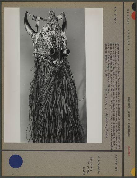 Masque-heaume porté lors des cérémonies