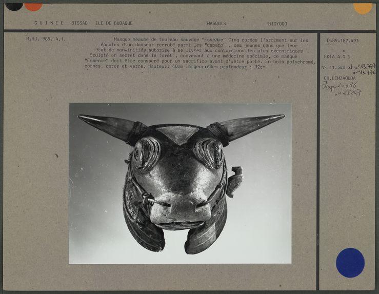 Masque heaume de taureau sauvage