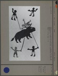 Tenture représentant la chasse au buffle