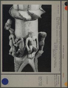 Détail d'une trompe traversière en ivoire