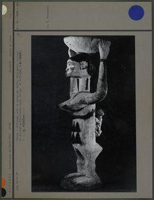 Statue, bois peint