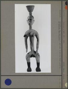 """Statue en bois peint pour le culte des """"Abiku&quot"""