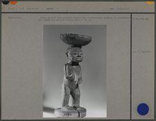 Coupe en bois personnage sculpté