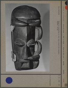 Masque de funérailles en bois