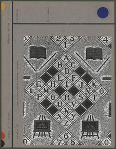 Pagne en coton imprimé : Alphabet