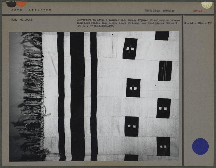 Couverture en coton à rayures