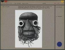 Masque en bois d'eho, yeux tubulaires