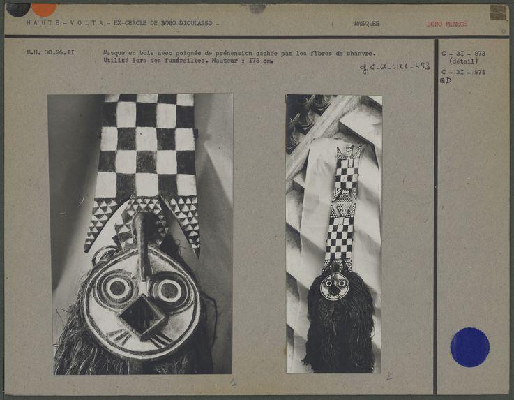 Masque, tribu Bobo Ménege
