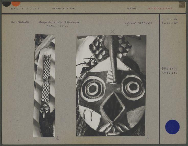 Masque tribu Bobomenège