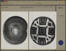 Calebasse décorée de motifs peints