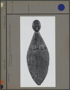 Claquette en bois sculpté