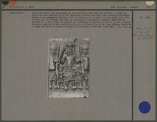Plaque en bronze, 16e siècle, 5 personnages