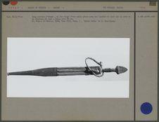 Long couteau d'homme, en fer forgé