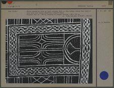 Grande tenture de coton en tissu indigène