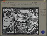 Peinture : détail de la légende la Reine de Saba