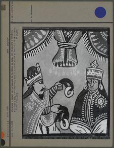 Peinture : détail de la Légende de la Reine de Saba