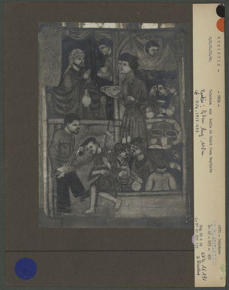 Peinture sur toile : décollation de Saint Jean Baptiste