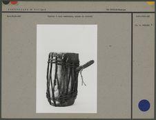 Tambour à deux membranes, caisse en ivoire